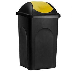 Gelbe Abfalleimer, Abfalleimer gelb, Gelbe Abfalleimer mit Schwingdeckel,  Abfalleimer mit Schwingdeckel in gelb, Gelber Schwingdeckeleimer,  Schwingdeckeleimer in gelb, Gelbe Mülleimer mit Schwingdeckel, Gelber Mülleimer mit Schwingdeckel